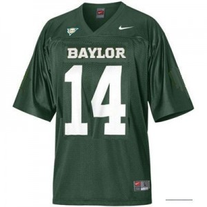 Baylor Bears Bryce Petty #14 Green Youth(Kids) Jersey Nike