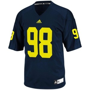 Michigan Wolverines Devin Gardner #98 Blue Men Stitch Jersey Adidas