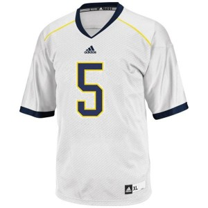 Men Michigan Wolverines #5 John Wangler White Adidas Stitch Jersey