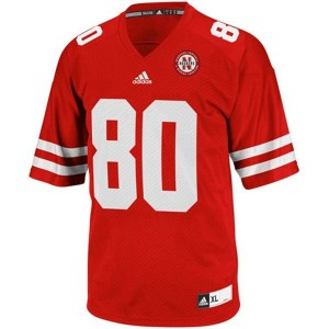 Adidas Nebraska Cornhuskers #80 Kenny Bell Men Stitch Jersey - Red