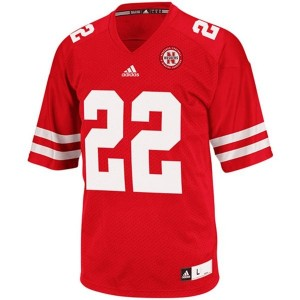 Adidas Nebraska Cornhuskers #22 Rex Burkhead Youth(Kids) Jersey - Red