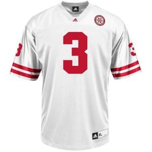Men Nebraska Cornhuskers #3 Taylor Martinez White Adidas Stitch Jersey