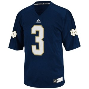 Notre Dame Fighting Irish Joe Montana #3 Blue Youth(Kids) Jersey Adidas
