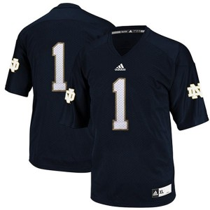 Notre Dame Fighting Irish Louis Nix III #1 Blue Men Stitch Jersey Adidas