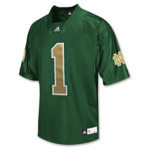Notre Dame Fighting Irish Louis Nix III #1 Green Men Stitch Jersey Adidas