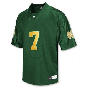 Notre Dame Fighting Irish Stephon Tuitt #7 Green Youth(Kids) Jersey Adidas