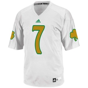 Men Notre Dame Fighting Irish #7 Stephon Tuitt White Adidas Stitch Jersey