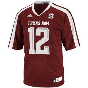 Adidas Texas A&M Aggies 12th Man Men Stitch Jersey - Red