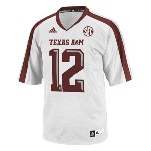 Men Texas A&M Aggies 12th Man White Adidas Stitch Jersey