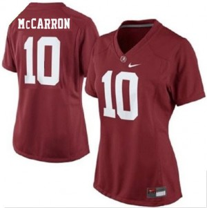 Nike Alabama Crimson Tide #10 A.J McCarron Womens Jersey - Red