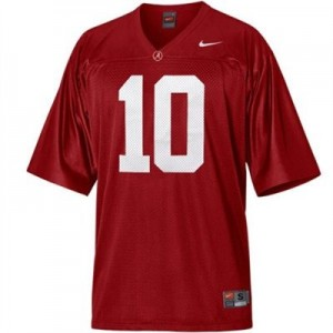 Nike Alabama Crimson Tide #10 A.J. McCarron Men Stitch Jersey - Red