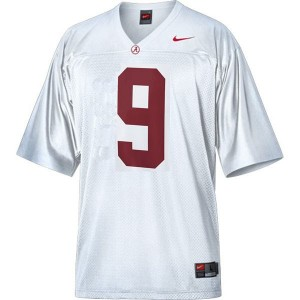 Youth(Kids) Alabama Crimson Tide #9 Amari Cooper White Nike Jersey