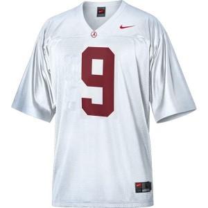 Youth(Kids) Alabama Crimson Tide #9 Amari Cooper White Nike Jersey
