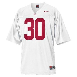 Men Alabama Crimson Tide #30 Dont'a Hightower White Nike Stitch Jersey