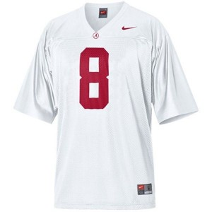 Men Alabama Crimson Tide #8 Julio Jones White Nike Stitch Jersey