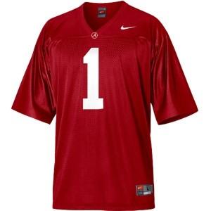 Nike Alabama Crimson Tide #1 Nick Saban Men Stitch Jersey - Red