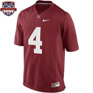 Nike Alabama Crimson Tide #4 T.J. Yeldon BCS Bowl Patch Men Limited Stitch Jersey - Red