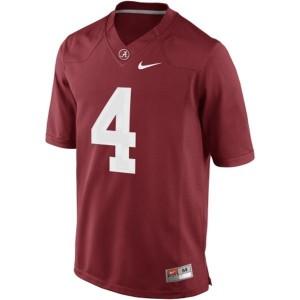 Nike Alabama Crimson Tide #4 T.J. Yeldon Men Limited Stitch Jersey - Red