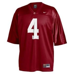 Nike Alabama Crimson Tide #4 T.J. Yeldon Men Stitch Jersey - Red