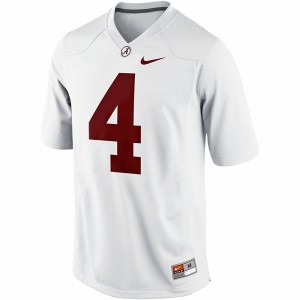 Men Alabama Crimson Tide #4 T.J. Yeldon White Nike Limited Stitch Jersey