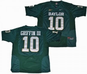 Baylor Bears Robert Griffin III #10 Green Men Stitch Jersey Nike