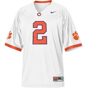 Men Clemson Tigers #2 Sammy Watkins White Nike Stitch Jersey