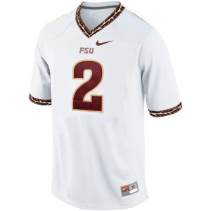 Men Florida State Seminoles (FSU) #2 Deion Sanders White Nike Stitch Jersey