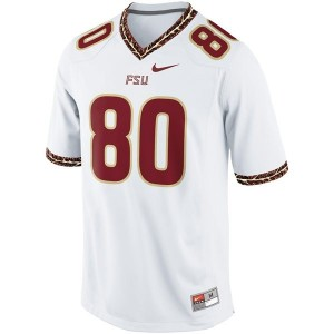 Men Florida State Seminoles (FSU) #80 Rashad Greene White Nike Stitch Jersey