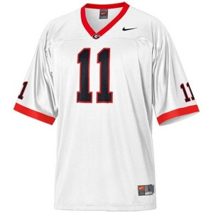 Men Georgia Bulldogs #11 Aaron Murray White Nike Stitch Jersey