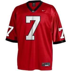 Nike Georgia Bulldogs #7 Matthew Stafford Men Stitch Jersey - Red