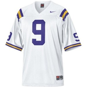 Youth(Kids) LSU Tigers #9 Jordan Jefferson White Nike Jersey