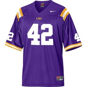 Nike LSU Tigers #42 Michael Ford Men Stitch Jersey - Purple