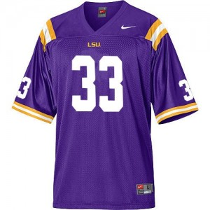 Nike LSU Tigers #33 Odell Beckham Men Stitch Jersey - Purple
