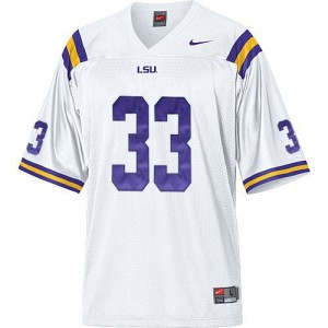 Youth(Kids) LSU Tigers #33 Odell Beckham White Nike Jersey