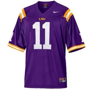 Nike LSU Tigers #11 Spencer Ware Men Stitch Jersey - Purple