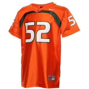 Miami Hurricanes Ray Lewis #52 Orange Men Stitch Jersey Nike