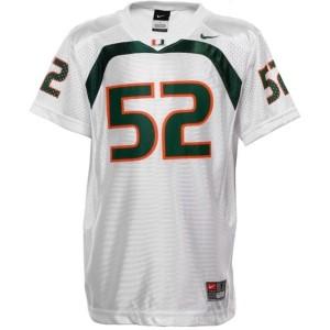 Youth(Kids) Miami Hurricanes #52 Ray Lewis White Nike Jersey