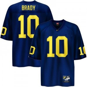 Michigan Wolverines Tom Brady #10 Blue Men Stitch Jersey Nike