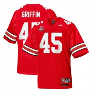Nike Ohio State Buckeyes #45 Archie Griffin Men Stitch Jersey - Red