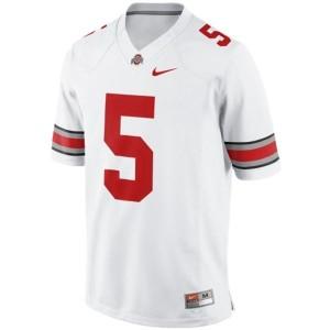 Men Ohio State Buckeyes #5 Braxton Miller White Nike Stitch Jersey