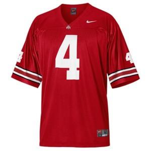 Nike Ohio State Buckeyes #4 Kirk Herbstreit Men Stitch Jersey - Red
