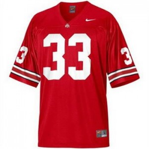 Nike Ohio State Buckeyes #33 Pete Johnson Men Stitch Jersey - Red