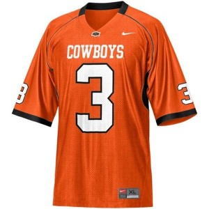 Oklahoma State Cowboys Brandon Weeden #3 Orange Men Stitch Jersey Nike
