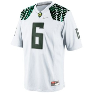 Men Oregon Ducks #6 De'Anthony Thomas White Nike Stitch Jersey