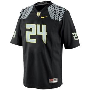 Oregon Ducks Kenjon Barner #24 Black Men Stitch Jersey Nike