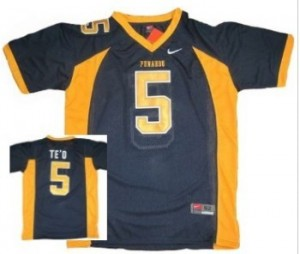 Punahou High School(Honolulu) Manti Te'o #5 Blue Youth(Kids) Jersey Nike