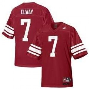 Nike Stanford Cardinal #7 John Elway Men Stitch Jersey - Red