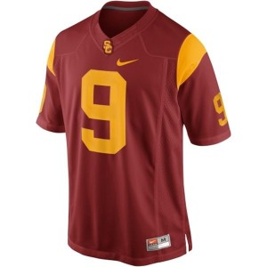Nike USC Trojans #9 Marqise Lee Men Stitch Jersey - Red