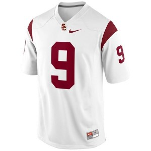 Men USC Trojans #9 Marqise Lee White Nike Stitch Jersey