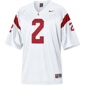 Men USC Trojans #2 Robert Woods White Nike Stitch Jersey